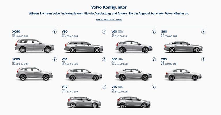 Volvo konfigurator